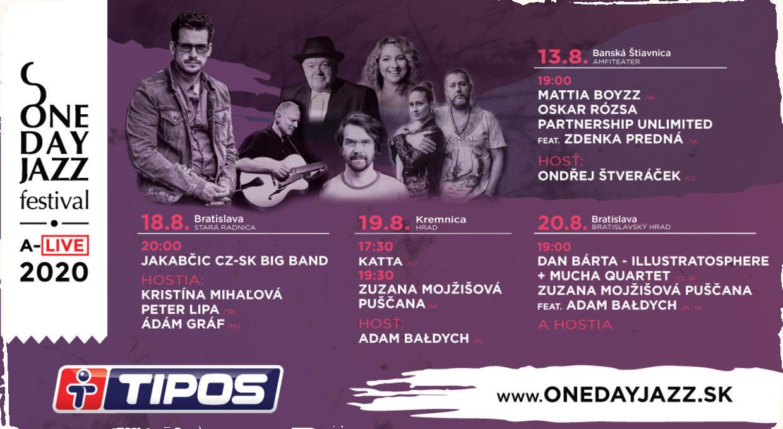 One Day Jazz Festival pokračuje. Na štyri koncerty sa môžu tešiť jazzoví priaznivci v Bratislave, Banskej Štiavnici a Kremnici