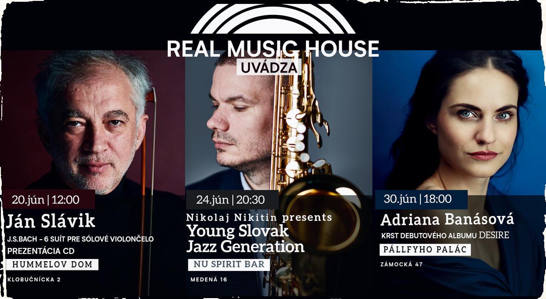 Real Music House uvádza: navštívte júnové podujatia novej koncertnej série
