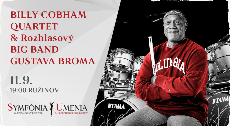 September v znamení hviezd. Svetový jazzový bubeník Billy Cobham vystúpi vRužinove na festivale Symfónia umenia