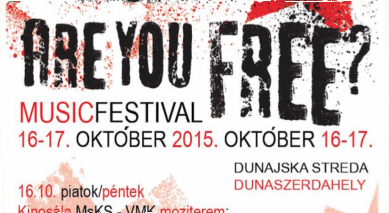 """Festival """"Are You Free"""" v Dunajskej Strede už tento víkend"""